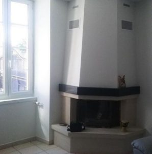 rénovation cheminée peinture